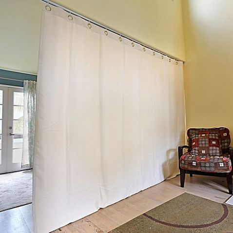 Roomdividersnow Ceiling Track Room Divider Kit B With 9 Foot Tall Curtain Panel B Tall Curtains Room Divider Cheap Room Dividers