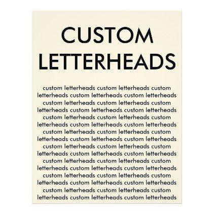 Custom personalized letterheads blank template letterhead create custom personalized letterheads blank template letterhead create your own gifts personalize cyo custom spiritdancerdesigns Choice Image