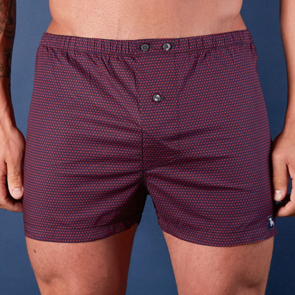 Xavier color printing - Navy With Red X Print Boxer Short Xavier