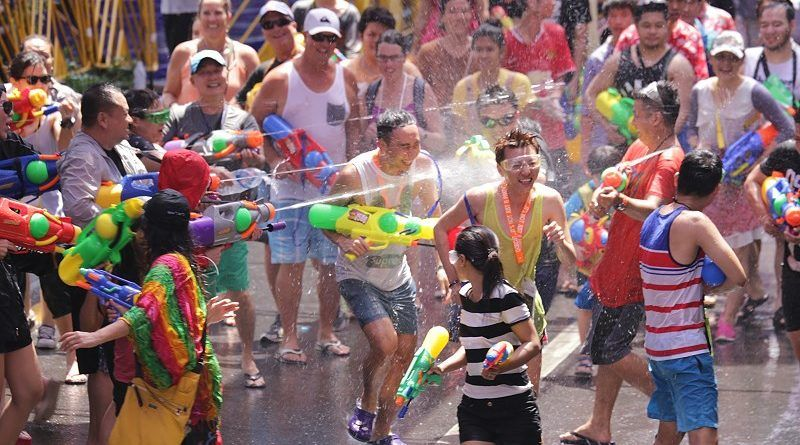 The Songkran Festival is a national holiday in Thailand