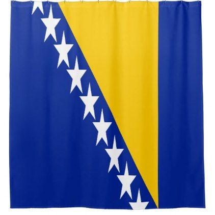 Bosnia And Herzegovina Flag Shower Curtain Zazzle Com Flag