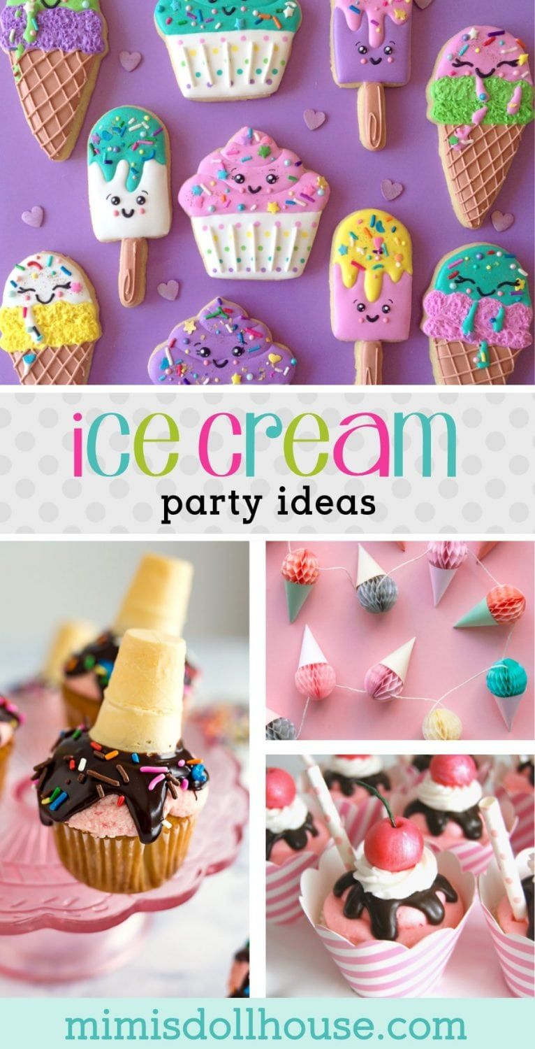 How to throw a Cool Ice Cream Party #icecreambirthdayparty