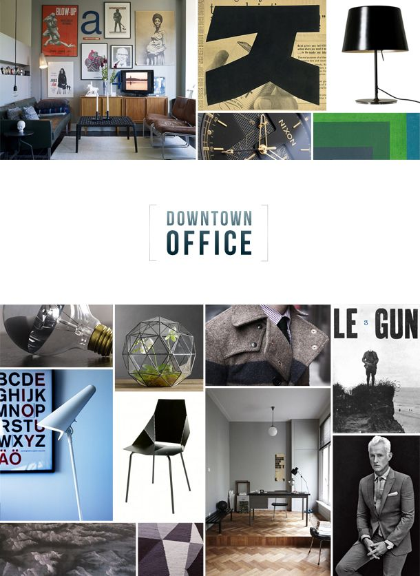 Downtown Office Moodboard Office Design Mood Boards Design