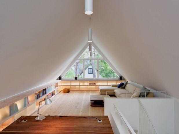 Wohnideen Unterm Dach Ffecc W H B P Modern Arbeitszimmer Mit Braun ...
