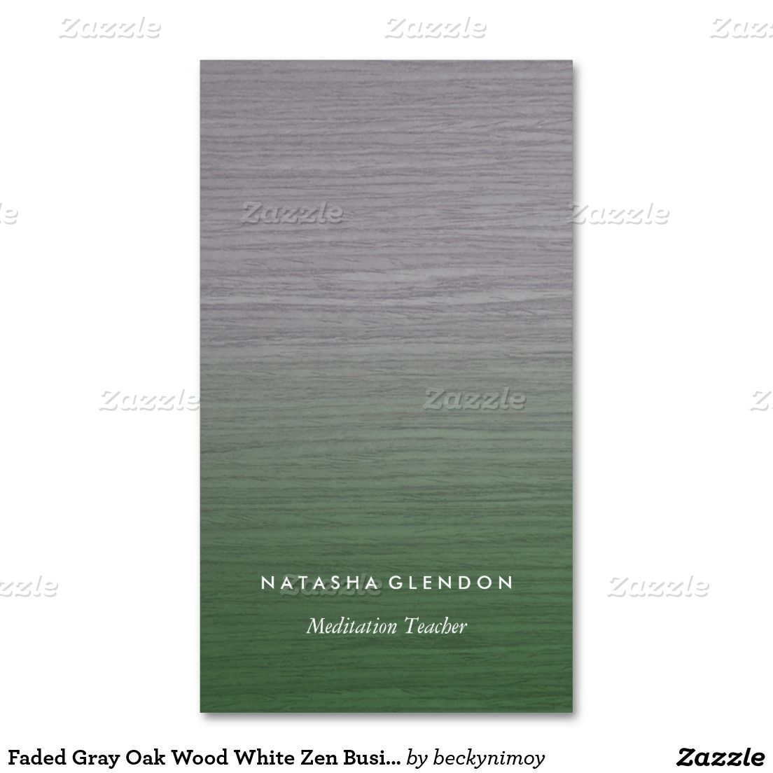Faded Gray Oak Wood White Zen Business Card | Meditation Business ...