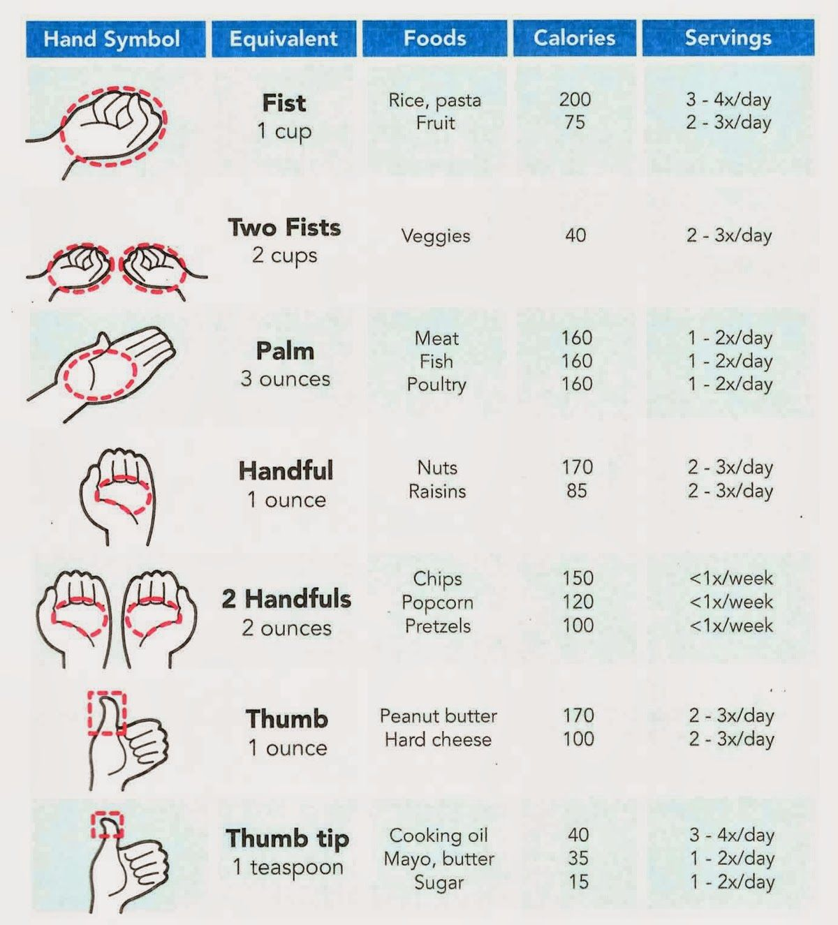Food Portion Size Hand
