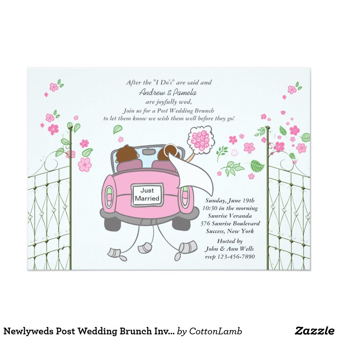 Newlyweds Post Wedding Brunch Invitation | Wedding: Just Married ...