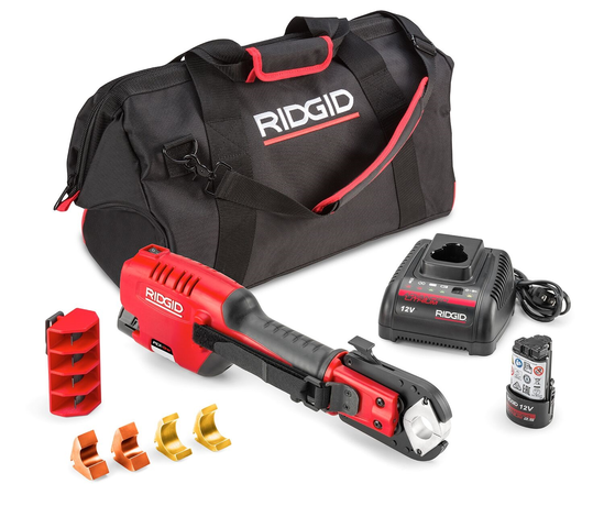 12v Ridgid Pex One Press Tool Launched Pro Tool Reviews Plumbing Tools Crimping Tool Tool Kit