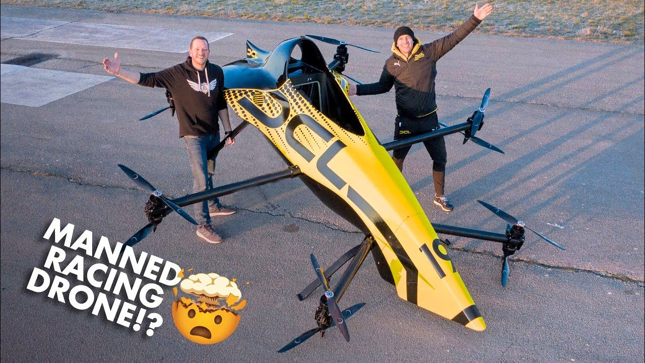 First Manned Aerobatic RACING Drone Will it FLIP