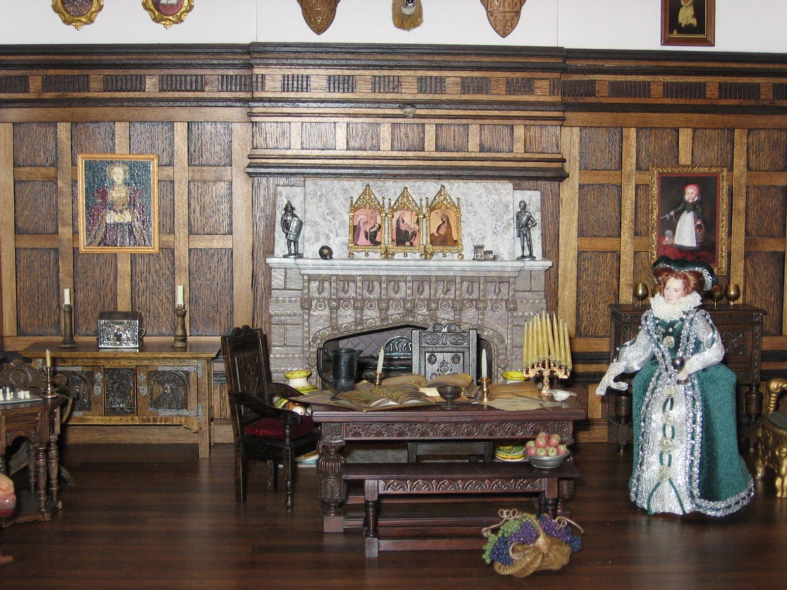 Historic dolls houses and miniatures winter parlor or - Bbs dollhouse ...