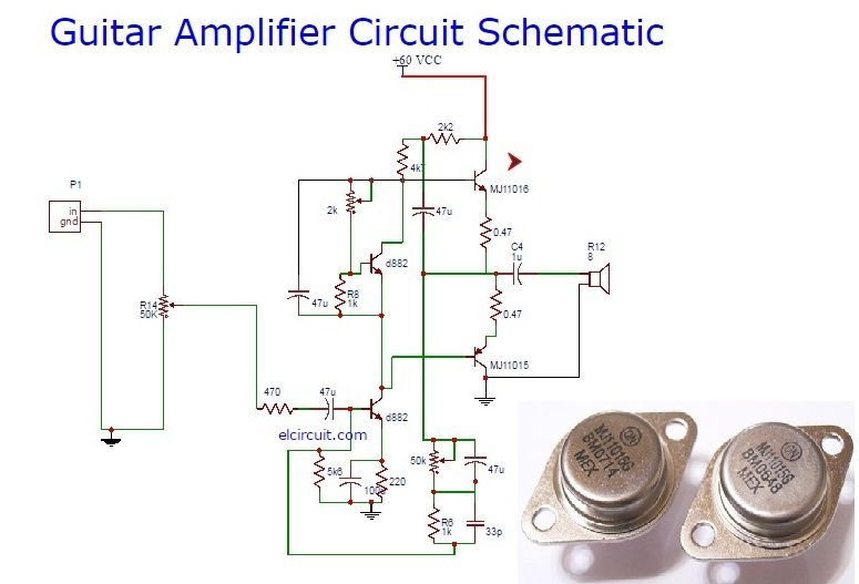 guitar power amplifier circuit schematic aliep electronic pinterest circuits guitars and. Black Bedroom Furniture Sets. Home Design Ideas