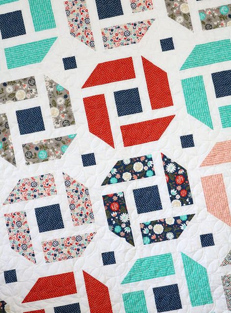 Cheerful A Fresh Modern Quilt Pattern That Is Fat Quarter