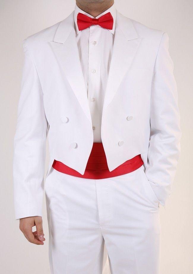 Men's Tail White Tuxedo..White The fully lined suit.Premium Slim fit by Bryan M #BryanMichael #Tuxedo