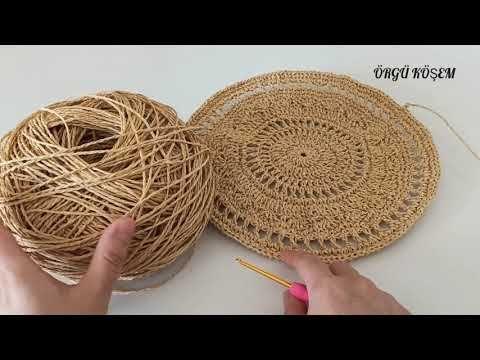 Kağıt ip ile çok şık bir çanta yapımı 💐 #kagitip #pinterest #crochetbag - YouTube