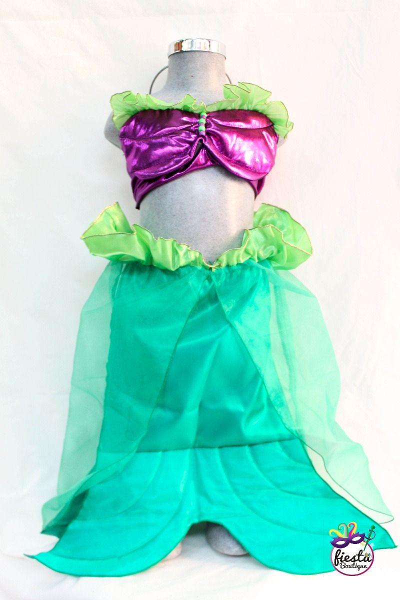 7764de3c0 Hermoso Disfraz De Sirenita Ariel !! Sirena Traje Niña Mar - $ 425.00 en  MercadoLibre