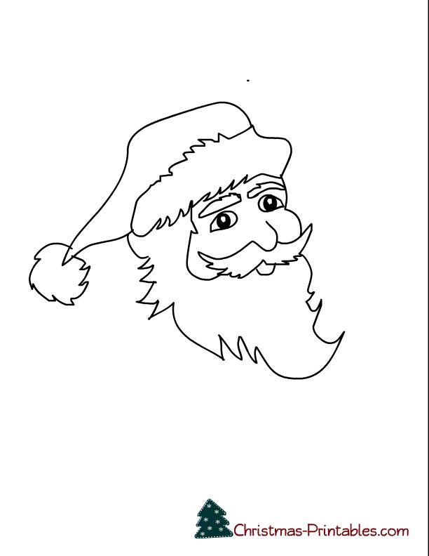 coloring page printable of santa face | Free Printable Worksheets ...