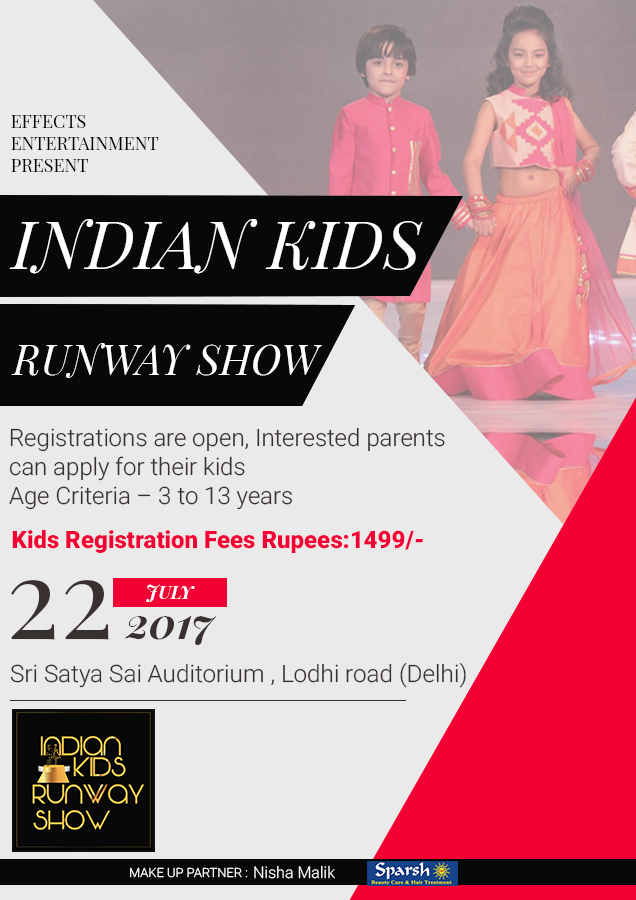 Treat Yourself At Our First Indian Kids Runway Show With Shopping Event 100 Kids Are Participating In The Upco Kids Fashion Show Shopping Event Fashion Show