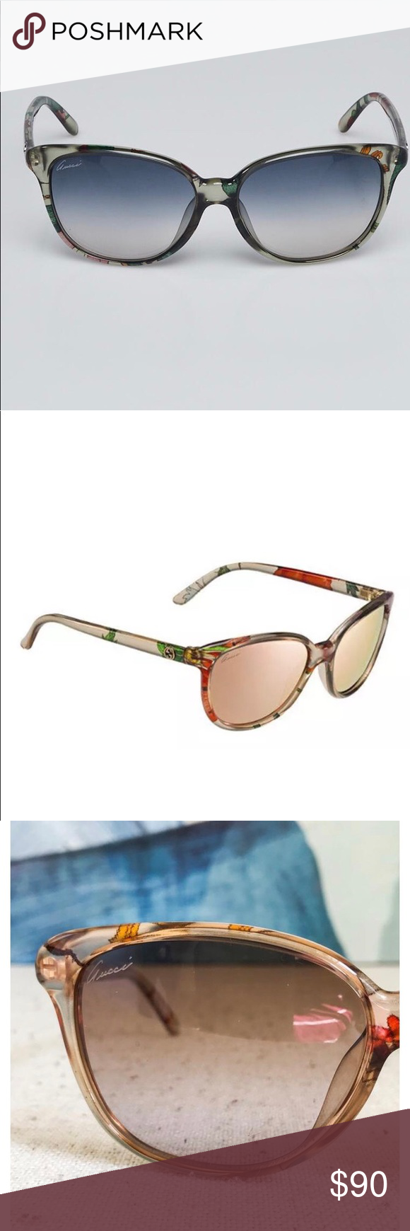 03deeaa378 Gucci Flora Frame Sunglasses NWOB  395 Retail 100% Authentic! Guarantee!  Gucci Flora s unmistakable