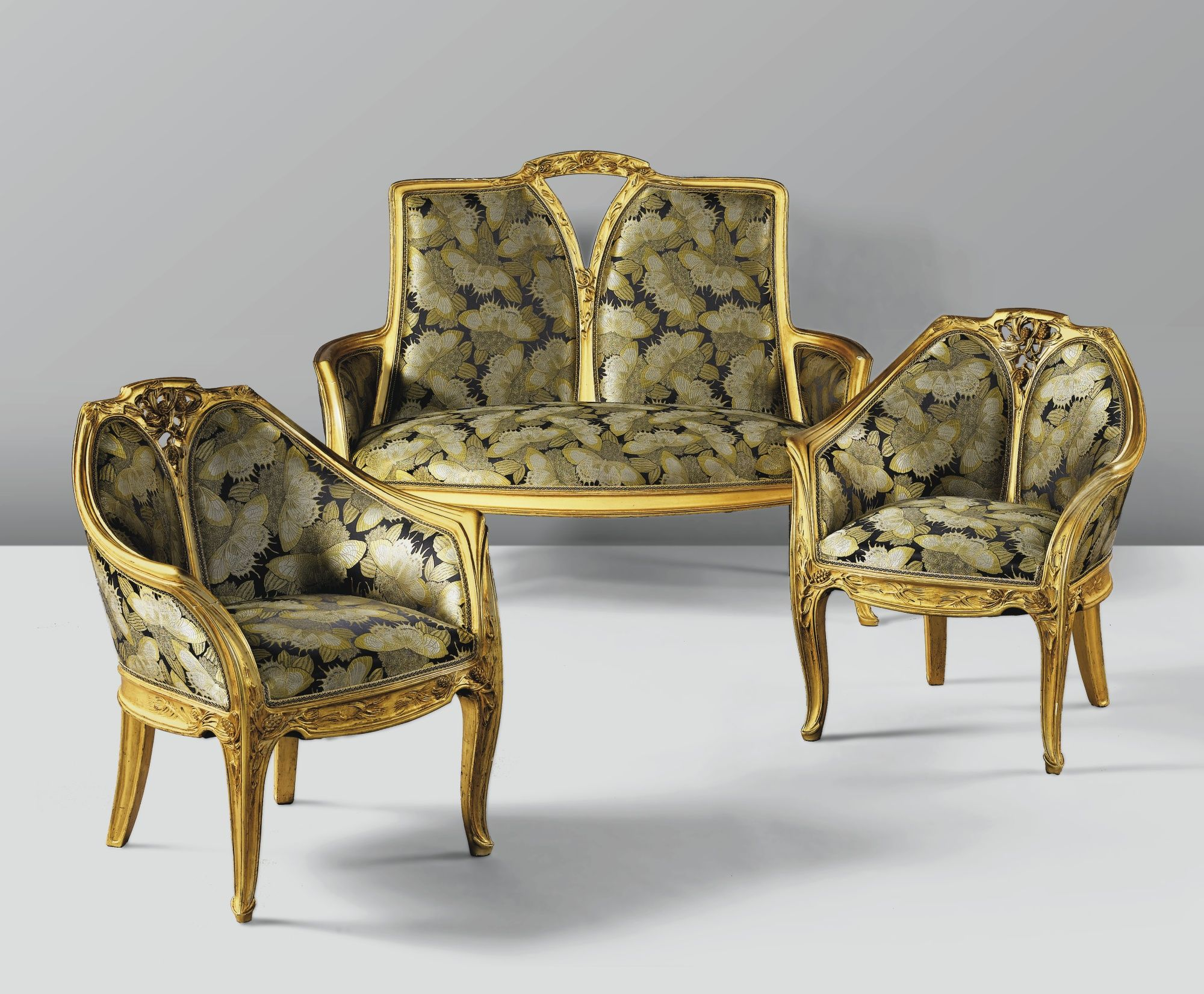 modern art nouveau furniture. \u0027AUX PINS\u0027, A GILT WOOD AND RE-UPHOLSTERED SALON SUITE BY LOUIS. Art Nouveau FurnitureArt InteriorSalon FurnitureModern Modern Furniture