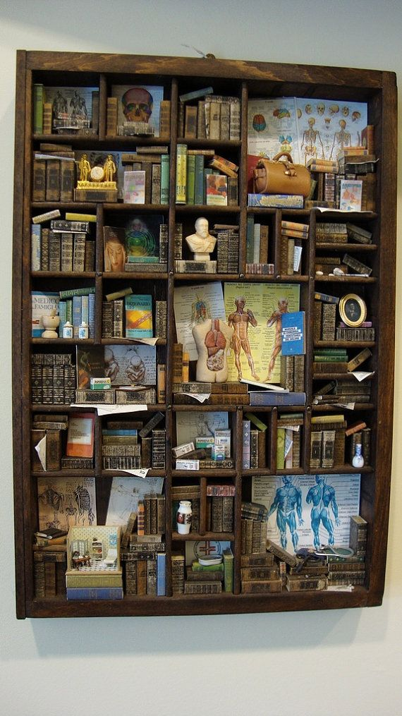 Miniature Library Miniature Thematic Doctor Miniatures Printers Tray Shadow Boxes
