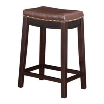 Linon Allure Counter Stool Beach House Kitchen Stool