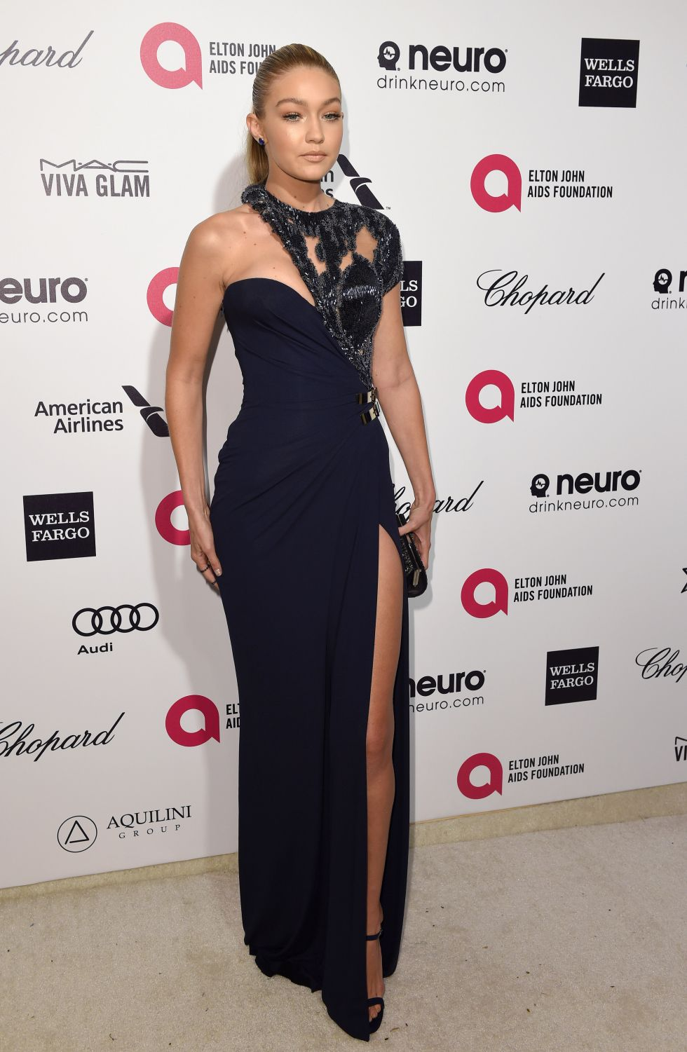 At the Elton John AIDS Foundation Academy Awards Viewing Party