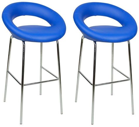Pleasing Pair Soronson Chrome And Padded Kitchen Breakfast Bar Stool Dailytribune Chair Design For Home Dailytribuneorg