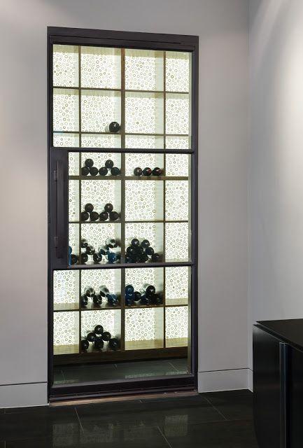Portella Projects: Wine Cellar Door   Steel And Glass 3 Lite Door