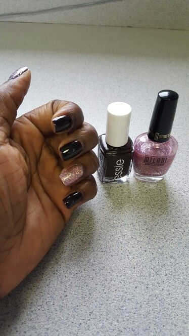 Essie wicked & Milani pink flare