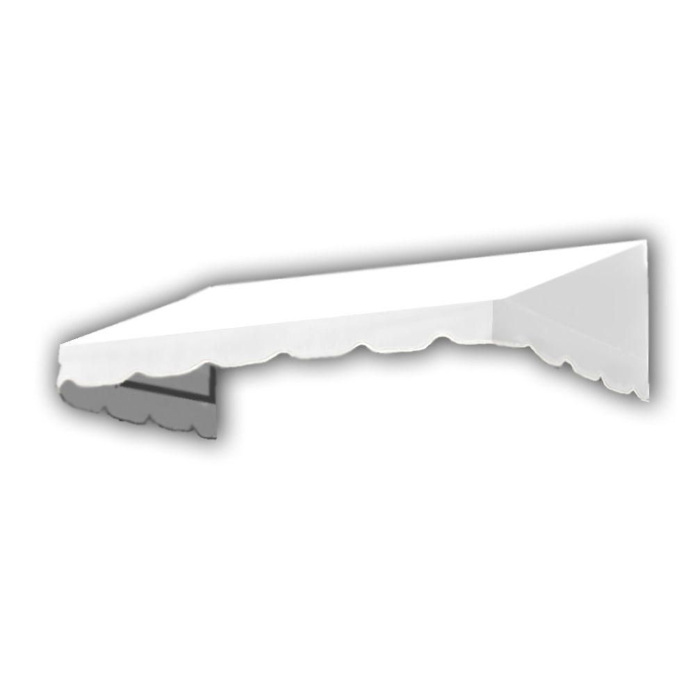 AWNTECH 14 ft. San Francisco Window/Entry Awning Awning (18 in. H x 36 in. D) in OffinWhite, White