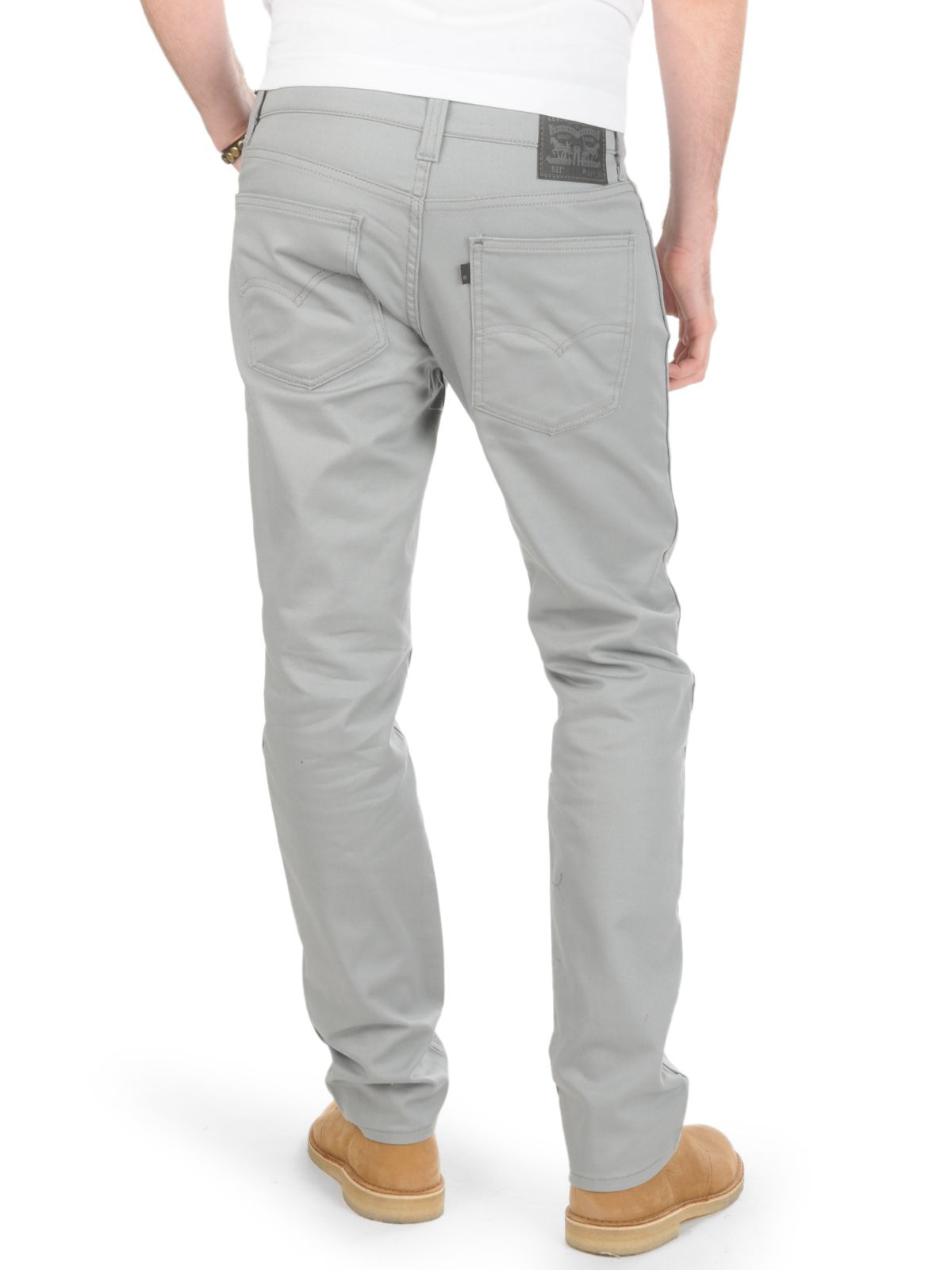 Levi S 511 Grey Levi Mens Fashion Grey Jeans