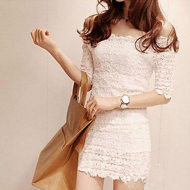 Women's Off the Shoulder Lace Mini Dress – USD $ 13.99