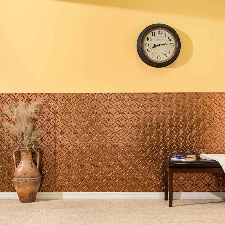 Rings wall panel in Antique Bronze   general house remodel ideas ...