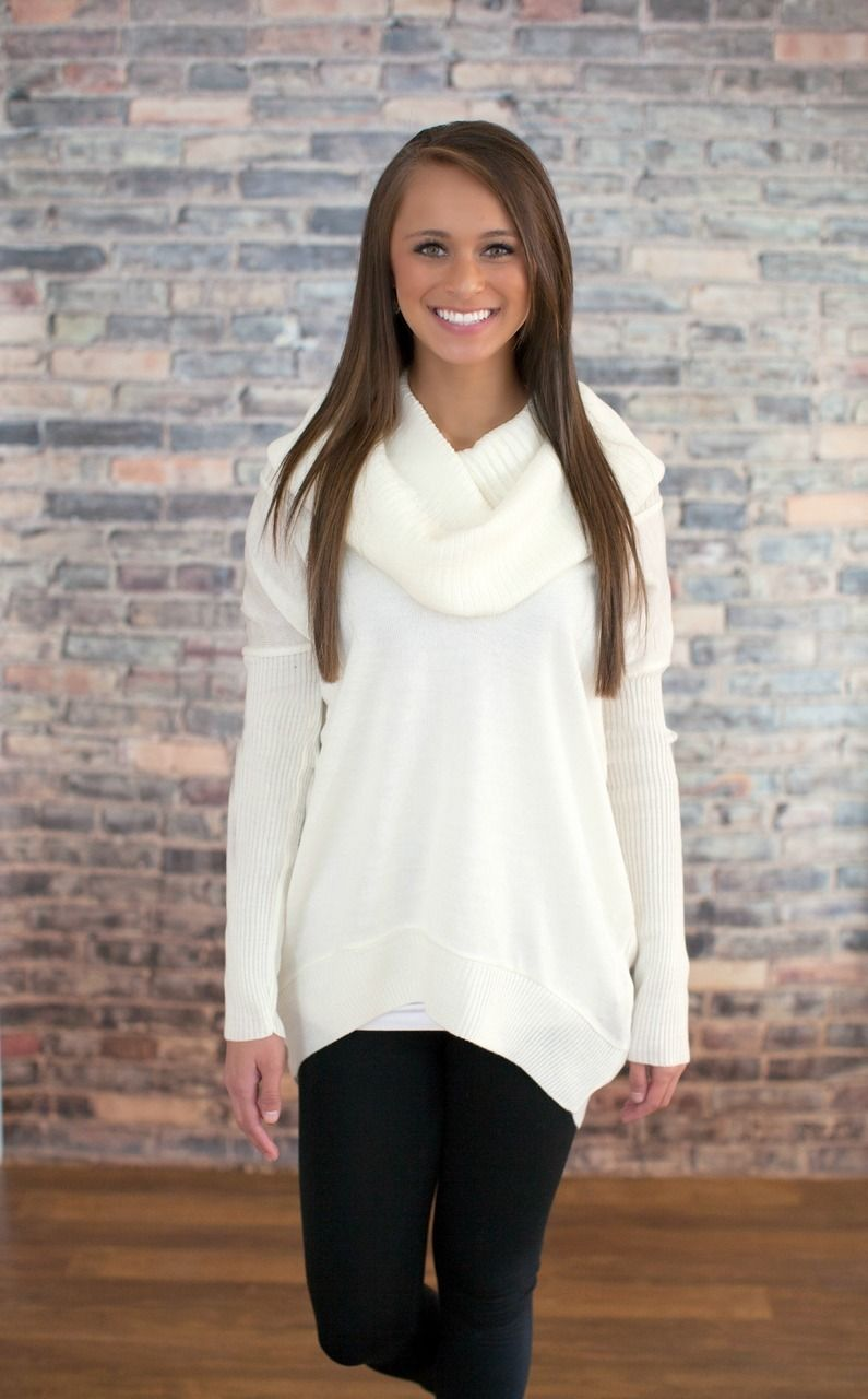 The Pink Lily Boutique - Ivory Cowl Neck Sweater, $42.50 (http ...