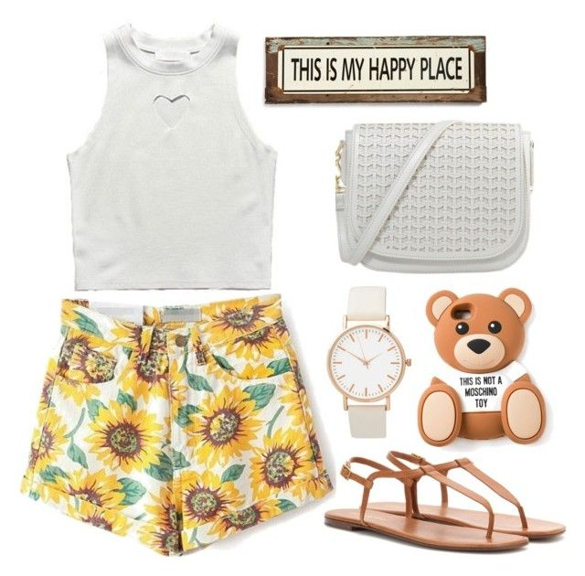 """°summer#4°"" by sheyland on Polyvore featuring WithChic, Moschino, Yves Saint Laurent, Poncho & Goldstein, women's clothing, women's fashion, women, female, woman and misses"