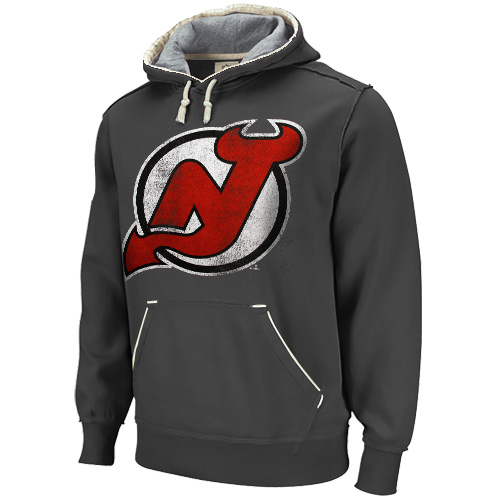 buy popular bbd7b 38747 New Jersey Devils Stone Bigger Better Logo Pullover Hoodie ...