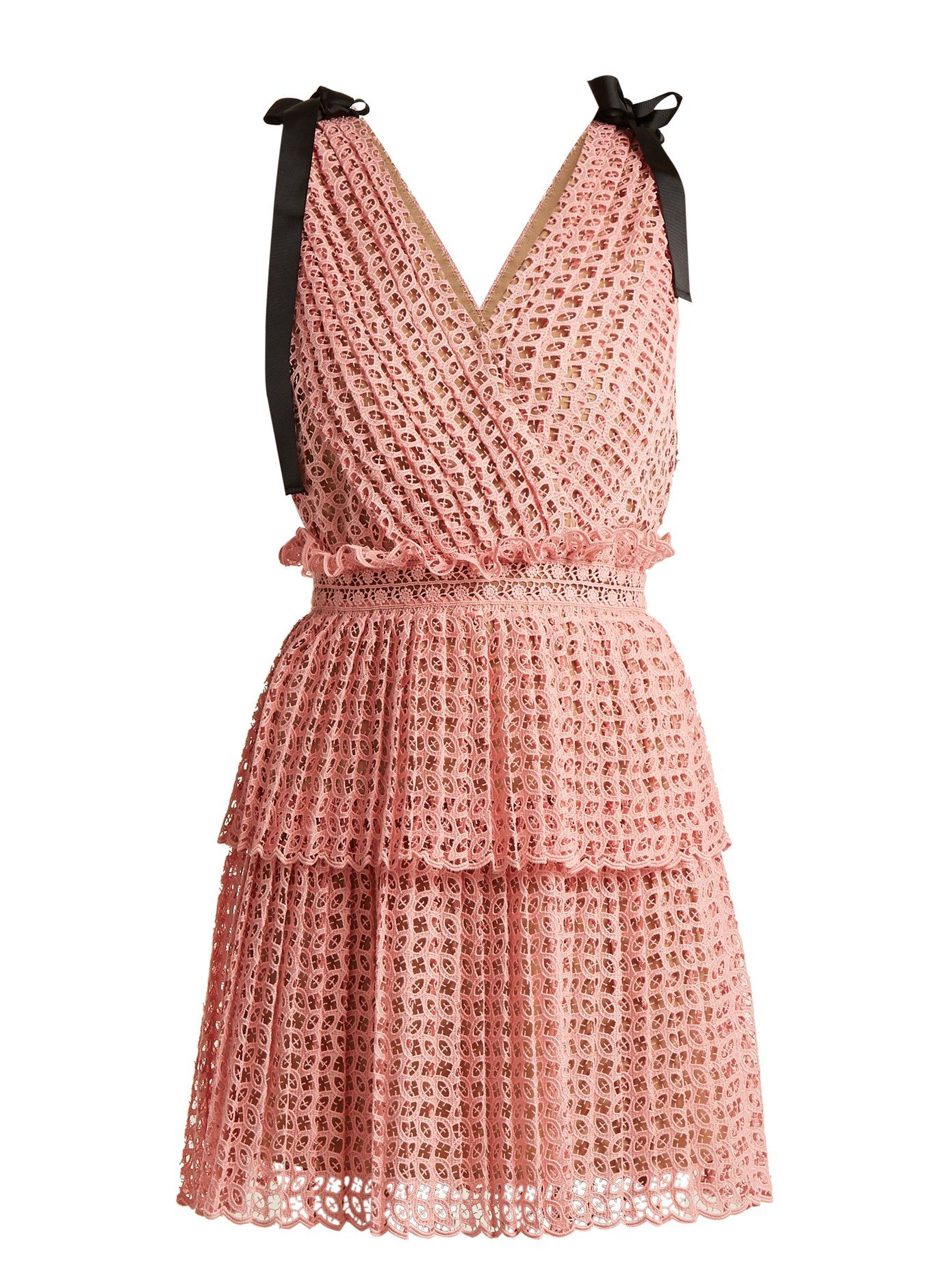 fd47d2bcfbddb Two-tier guipure-lace dress | Self-portrait | MATCHESFASHION.COM ...