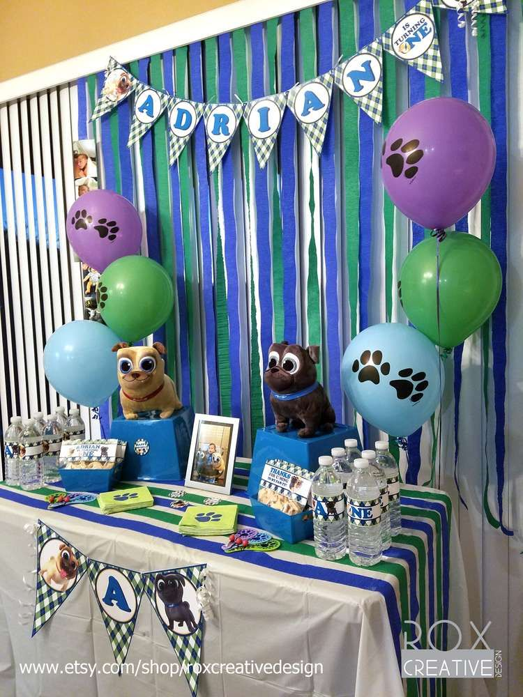 Puppy Dog Pals 1st Birthday Catchmyparty Com Dog Themed
