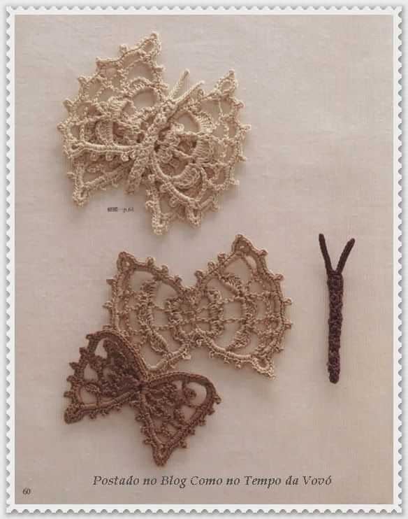 farfalle   Hobby lavori femminili - ricamo - uncinetto - maglia