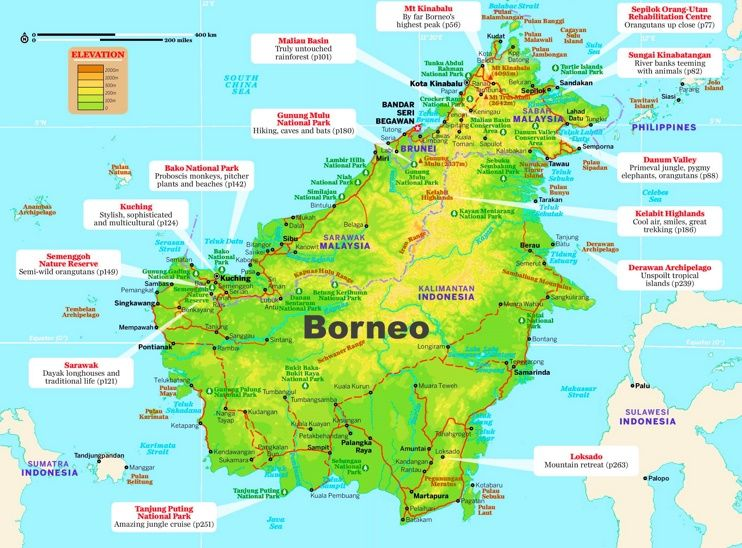 Borneo tourist map Maps Pinterest Tourist map Borneo and