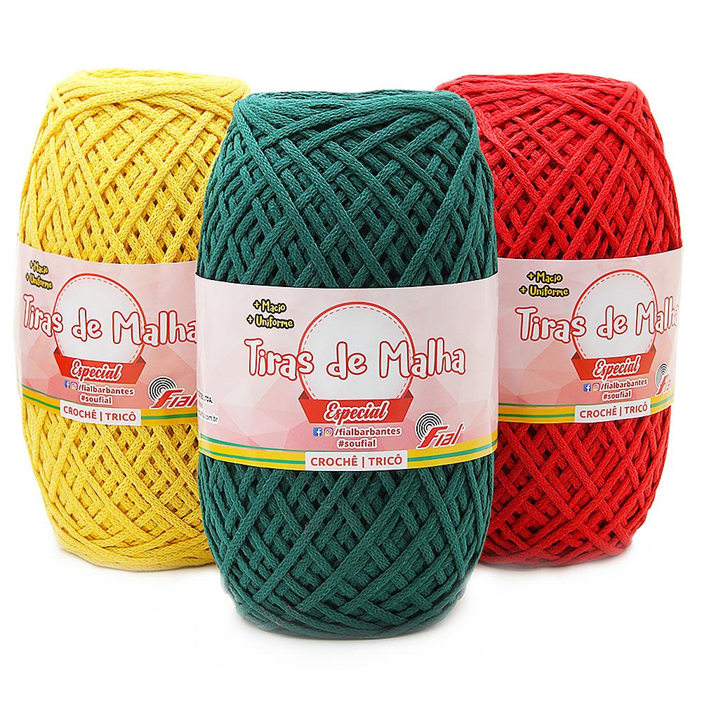 Tiras De Malha Especial Fial 500g Linha De Croche Croche Malha