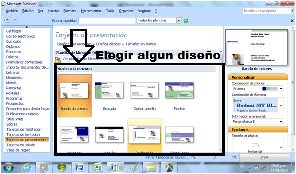fd7df6c316cba Carolina Vidal  Como hacer tarjetas de presentacion en Publisher ...