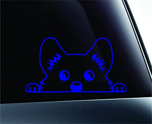 Corgi Peeking Dog Symbol Decal Funny Car Truck Sticker Window (Blue) ExpressDecor http://www.amazon.com/dp/B00RNC9202/ref=cm_sw_r_pi_dp_tLcRub0M6X3ZG