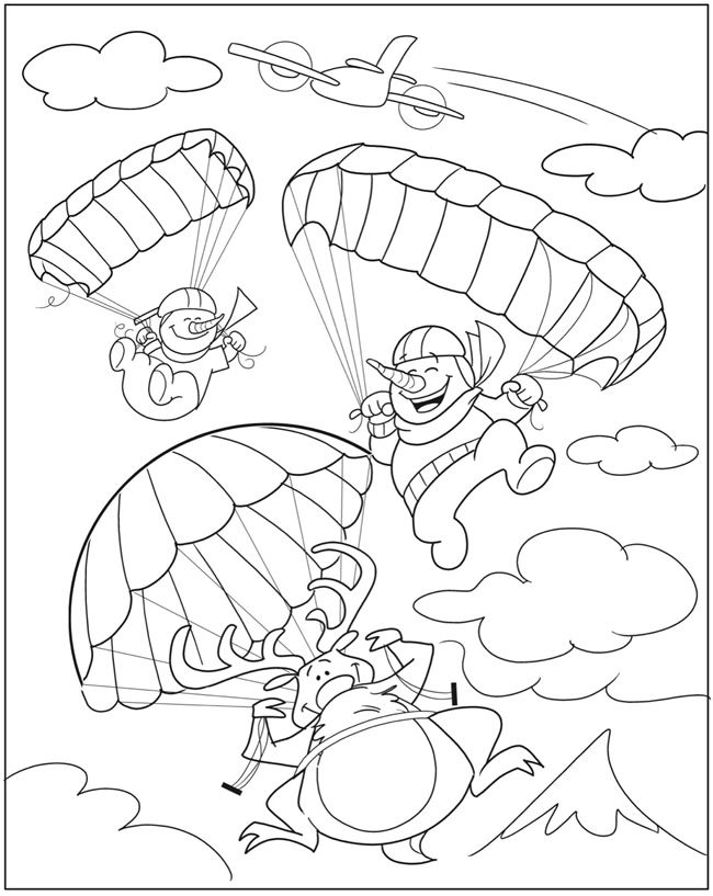Silly Snowmen Coloring Book By John Kurtz Dover Publications OOLORING PAGE 2
