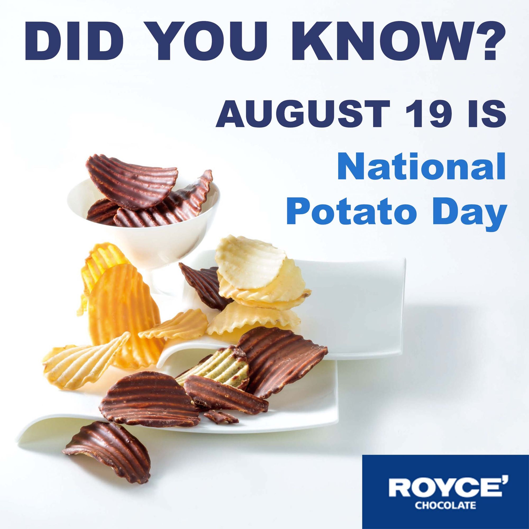 August 19 Is National Potato Day No Need To Be A Couch Potato Though Just To Indulge Sweet And Salty Chocolate Covered Potato Chips Chocolate Covered Almonds