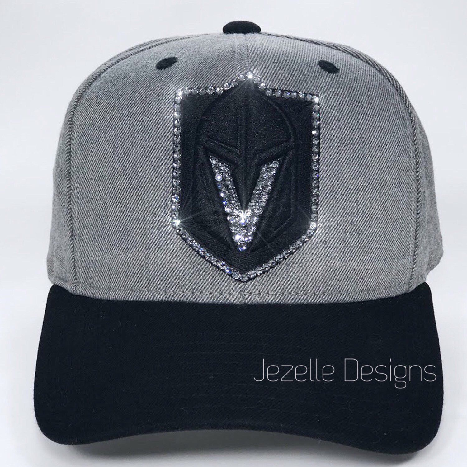 VGK Custom Swarovski Crystal Hand Jeweled Hats by Jezelle Designs!   blingbling dd7887aa070