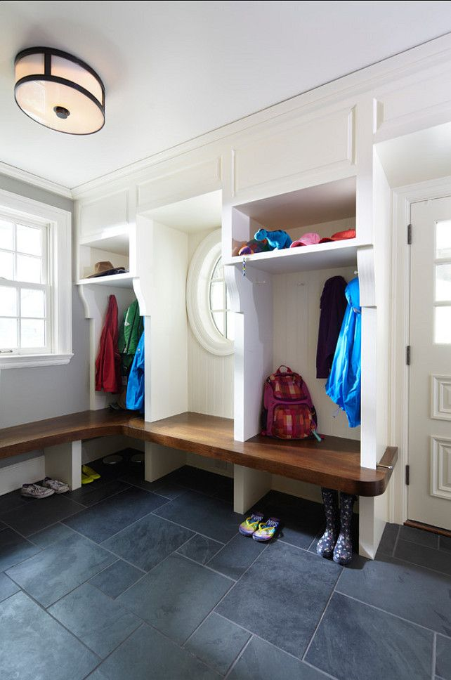 Mudroom with great design ideas The flooring