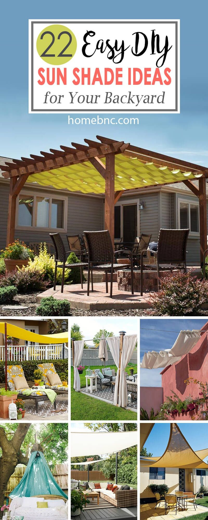 22 Easy Diy Sun Shade Ideas For Your Backyard Or Patio Patio Sun