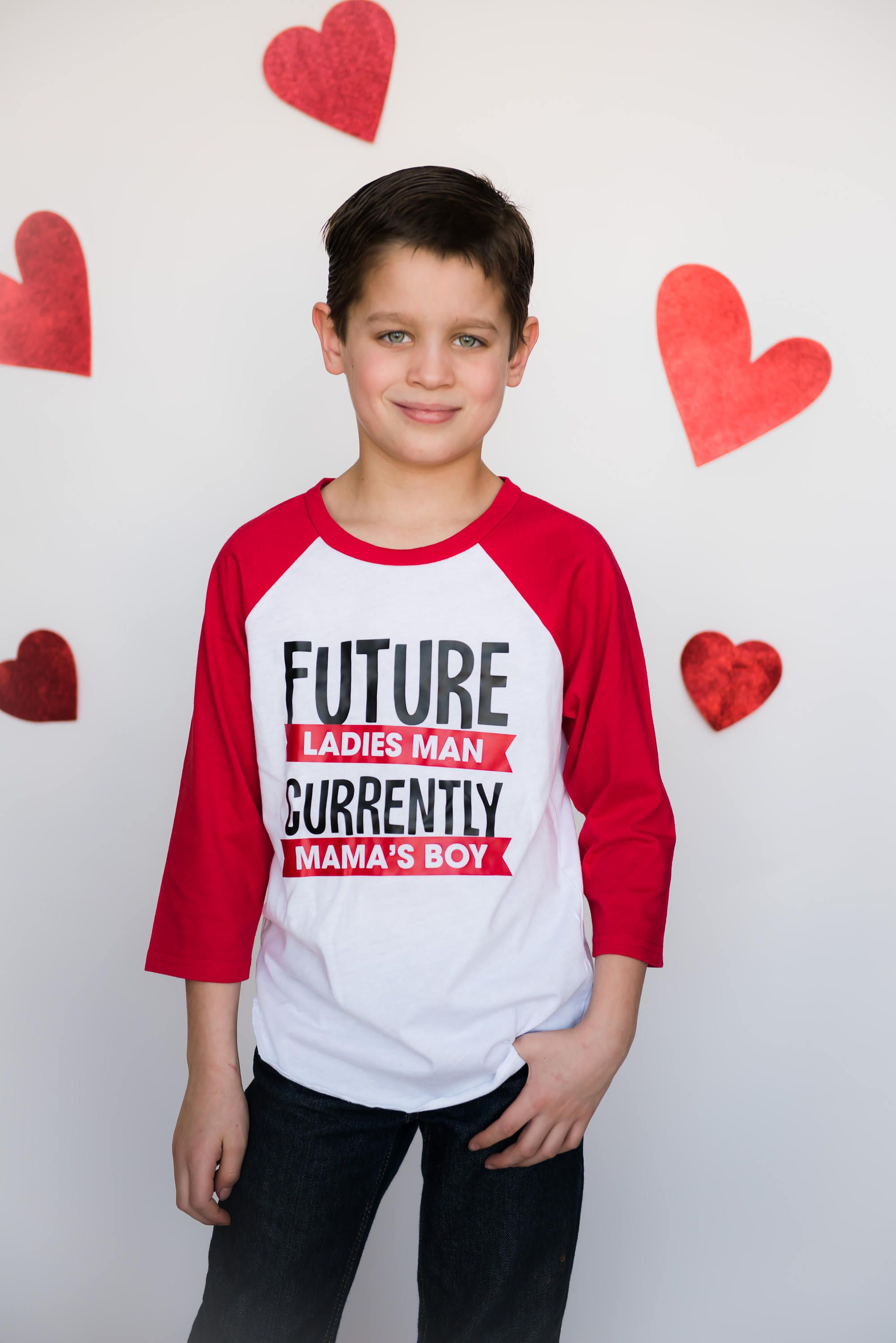 9acf8cc1 Future Ladies Man Shirt - Curren Mama's Boy Tee - Funny Valentines Day Shirt  - Cupid Shirt - Valentine Shirt for Kids - Boy Valentine Tee by ...
