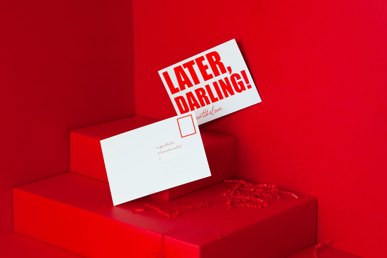 Guest Card Later Darling Blanko Hochzeitsgeschenk Postkarten Geschenke